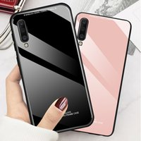 Wholesale oppo water phone online – custom Tempered Glass hard Back phone cases cover case For OPPO A9 A5 A11X RENO Z ACE realme pro C2 Q