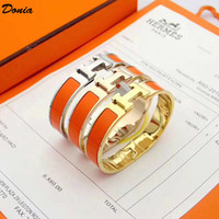 Wholesale donia for sale - Group buy Donia jewelry love home mm Colorful Enamel plating exaggerated titanium steel European and American popular adjustable opening Bracelet
