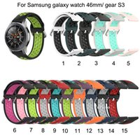 Wholesale factory deals resale online - Silicone Wrist Band Strap for Samsung Galaxy Watch mm Replaceable for Samsung gear S3 Smart watch Two color breathable Factory Deal