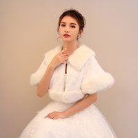 Wholesale bride dresses big for sale - Group buy Bride married warm water mink fur shawl wedding dress coat autumn and winter wedding instrument big cloak