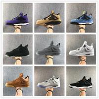 melhores tênis de basquete de corte baixo venda por atacado-2020 Melhor Novas 4 Calçados IV OG Preto Vermelho Low Men Basquete Bred Sports Sneakers Masculino 4s Tamanho Trainers Outdoor Top Quality 7-13