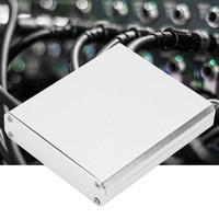 ingrosso recinzione contenitore di alluminio-Lega di alluminio argento Enclosure PCB Strumento Shell elettronico di raffreddamento Progetto Box 15X67X75Mm