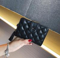 Wholesale personalized photo cards resale online - Factory direct selling women bags ostrich women wallet fashion leather short wallet tassel leather handbag purse personalized wallet
