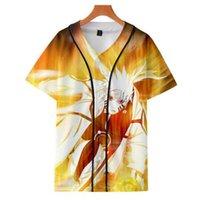 gleichmäßig kühl großhandel-2019 heißer verkauf anime naruto 3d druck freizeit kurzarm baseballuniform mode kühlen stil naruto serie frauen / männer t-shirt