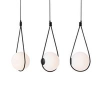 bırak hafif kolye toptan satış-İskandinav cam top abajur kolye ışık başucu damla lamba yemek masası hanglamp için İtalya tasarımcı hafif süspansiyon armatür