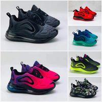 çocuklar beyaz basketbol ayakkabıları toptan satış-Nike Air Max 720 72c Çocuklar XI Space Jam Basketbol Ayakkabı Büyük Çocuk Erkek Kız Okul Öncesi 72-10 Concord Bred Siyah Kırmızı Beyaz Spor Eğitmeni Sneakers