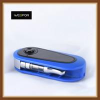 affichage de la tension achat en gros de-Authentique clé de touche de clic Weepor Batterie 400mAh Préchauffer la batterie à tension variable avec affichage de la tension 100% d'origine pour cartouche d'huile épaisse