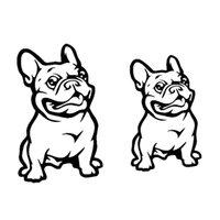 decalque do buldogue venda por atacado-Universal Preto Francês Bulldog Auto Styling Etiqueta Do Carro Decalque Decorativo de Alta Qualidade Etiqueta Do Carro de vinil Decalque Decorar