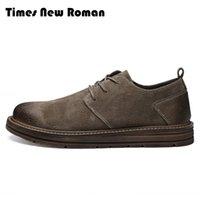 Wholesale casual men elegant shoes online - Times New Roman Genuine Leather Shoes Brand Men Casual Shoes Luxury Elegant Mens Lace Up Business Office Flats