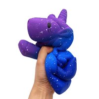 Wholesale boy girl soft toys for sale - 10pcs Squishy toy jumbo cm blue horse rare squishy PU soft jumbo Cell Phone Straps Charms kids boy girl gift