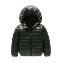 kızlar ceket aşağı çocuklar ceket toptan satış-2018 marka kuzey Çocuk Giyim Erkek ve Kız Kış Sıcak Kapüşonlu Ceket Çocuk Pamuk-Yastıklı Aşağı Ceket Çocuk Ceketler 4-12 Yıl