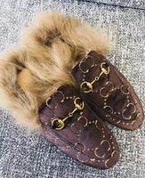 ante de las señoras zapatillas al por mayor-2019Fall And Winter Damas zapatos casuales zapatillas de piel de lujo mule para mujer de cuero plana gamuza mule zapatos amor zapatillas moda m5