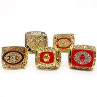 ingrosso accessori pietra rubino-New Fashion Men's Ring 1983/1972/1982/1991/1987 Washington Redskins National Football Championship ring Produttore veloce spedizione