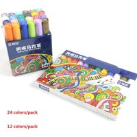 Wholesale colors for paintings plastics resale online - 12 Colors set Sta Acrylic Permanent Paint Marker Pen Sketch Stationery Set For DIY Manga Drawing Marker Pen School Student Painter c0130
