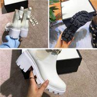 botas modelo superior venda por atacado-Botas femininas de explosão de moda estilo clássico de salto alto 35-41 top de luxo Martin botas modelos quentes (com caixa)