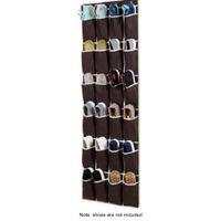 kratzfreie sonnenbrille groihandel-24 Taschen Non Woven hängende Speicher-Beutel-Tür-Halter-Ausgang Schuhe Organisationstasche mit Haken Space Saver Schuhe hängen