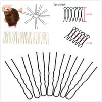 Wholesale gold braiding hair resale online - 40pcs U Shaped Hair Pins Braided Hair Tool Pin Clip Metal Hairpins For Women Barrettes Styling Tools Accessories Gold Black