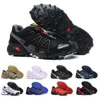 ingrosso le scarpe da tennis in pizzo nero-Scarpe da corsa Speedcross 3 Trail da uomo Scarpe da ginnastica per sport all'aperto Scarpe da ginnastica traspiranti bianche nere rosse rosse