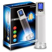 penis büyütme vakumları toptan satış-Ücretsiz kargo Erkek Artırıcı Elektrikli Penis Pompası USB Şarj Edilebilir LCD Ekran Güçlü Otomatik Cock Ereksiyon Büyütücü Büyütme Vakum