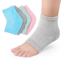 meias para pés secos venda por atacado-Atacado Gel Heel Meias Hidratante Spa Meias Gel cuidados com os pés Cracked Pé Seco Protetor Da Pele Dura