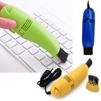 cepillo de teclado envío gratis al por mayor-Detalles sobre el cepillo de limpieza de teclado de vacío USB para PC Ordenadores portátiles Ventiladores de aire Monitor de cepillo E191