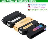 Wholesale variable pen for sale - Group buy New Lokey Preheat VV Battery Lo Key mAh Variable Voltage Preheating Flip Vape Mod USB Charger for Thick Oil Vape O Pen Cartridges