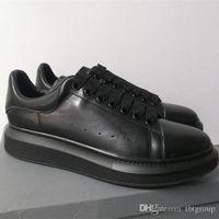 zapatillas de cuero de las niñas al por mayor-La nueva plataforma de las mujeres de lujo diseñador zapatilla de deporte blanca de cuero genuino entrenadores Comfort Pretty Girl estilo al por mayor de los calzados informales de los hombres de los zapatos de las mujeres