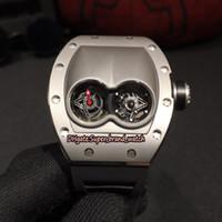 ingrosso orologio doppio movimento-Orologio di alta qualità di alta qualità RM 053 unico quadrante svizzero movimento al quarzo Mens Watch RM053 Cassa in acciaio inossidabile 316L Orologi sportivi in gomma nera