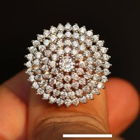 Wholesale 925 r jewelry resale online - 925 Sterling Silver Beautiful Design Ring Big Round Luxury Trend Jewellery New Assorted Water Drop Crystal Female Jewelry Love R