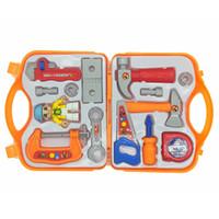 oyuncak plastik alet takımları toptan satış-Yeni Rastgele Renk Teslimat Çocuklar Oynamak Pretend Oyuncak Aracı Set Plastik Simülasyon Bakım Toolbox Araçları Oyuncaklar