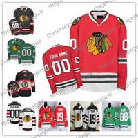 camisetas negras de blackhawks al por mayor-Personalizado Chicago Blackhawks ANTIGUA MARCA Hombre Mujer Invierno Clásico Verde Blanco Rojo Negro Cualquier número de nombre Cosido Hockey Jerseys S-4XL