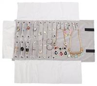 halskette lagerrolle großhandel-Luxus Schmuck Roll Bag Aufbewahrungstasche Ohrringe Halskette Roll Organizer T190629
