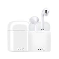 iphone gümüş kaplama toptan satış-Sıcak i7 i7s tws mini bluetooth kulaklık şarj i7s tws kulaklık kablosuz kulaklık iphone xs xr xsmax android telefon pk i9 i9s i8x i8