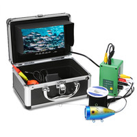 câmera de monitor de pesca subaquática venda por atacado-Câmera de Pesca subaquática 7 '' PortátilTFT Monitor 30 PCS LEDs À Prova D 'Água 1000TVL Peixe HD localizador 30 M Cable Fishing Finder