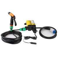 pompe à eau propre achat en gros de-Pompe à eau électrique de lavage de voiture propre portable de 12V 100W 160PSI