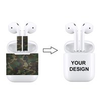 Wholesale decal sticker apple for sale - Group buy High Quality Bluetooth Headset Protective Sticker Protector Decal Skin Cover for Apple AirPods Custom YOU OWN PATTERN
