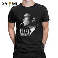 plus größenneuheitst-shirts großhandel-Peaky Blinders T-Shirt für Männer Shelby Kurzarm Neuheit Tees O Neck 100% Baumwolle Tops Geschenkidee T-Shirt Plus Size