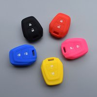 Wholesale car key rubber cover resale online - Silicone rubber car key fob shell cover case for For ISUZU DMAX D MAX MUX TRUCK UTE button remote holder protected