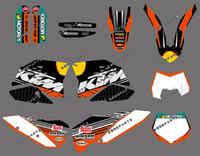 motosikletler için desal kitleri toptan satış-RB R B (BULL) Motosiklet Bisiklet 125 200 250 300 350 350 400 425 450 500 125-524 Tüm Grafikler Için Çıkartma Grafik Kiti 2007 2008