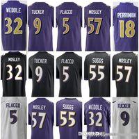 Men s Baltimore 5 Joe Flacco 9 Justin Tucker 18 Breshad Perriman Raven  Jersey 32 Eric Weddle 55 Terrell Suggs 57 C.J. Mosley Jerseys dc3fbc72a