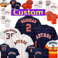 Wholesale mike fisher jersey for sale - Houston Custom Astros Jersey Justin Verlander Alex Bregman Jose Altuve Dallas Keuchel Gonzalez Reddick Cole Fisher
