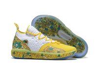 pendant shoes christmas venda por atacado-KD 11 sapatos Tio Patinhas para vendas frete grátis Kevin Durant Natal ao ar livre Loja de sapatas com caixa US7-US12