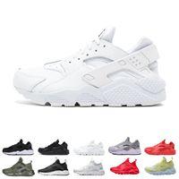Wholesale top women body art online - fashion Huarache Running Shoes Men Women Top Quality Stripe Balck White Oreo Sport Shoes Designer Sneakers Trainers size