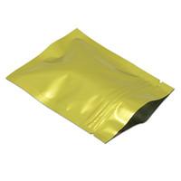 ingrosso borse ziplock richiudibili-Oro 10x15 cm (3.9x5.9 inch) Reclosable Mylar Lamina Calda Campione Campione Campione Foglio di alluminio Ziplock Pouch per biscotti Candy Foil Bag