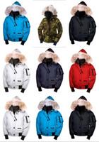 zippers canada venda por atacado-Top guse inverno para baixo com capuz para baixo padrão de camuflagem jaqueta China Canadá us mens mulheres zíperes aquecer jaquetas casacos ao ar livre de alta qualidade