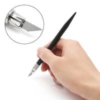 outils artisanaux achat en gros de-12 Pcs Lames Hobby Cutter Couteau En Cuir DIY Outils Artisanat Scalpel Graver 1 Set Pour Faire Des Sacs