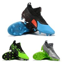zapatos verdes negros de interior al por mayor-Indoor 2019 Zapatos de fútbol One 19.1 Hacked Pack Fg Kangaroo Skin Botas de fútbol Hombre Negro Verde 3d K-leather Chuteiras De Futebol