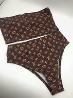 xl nylon feminino sexy venda por atacado-2019Luxo marca backless swimsuit sexy bandage corte alto um único Floral impresso bikini swimsuit para mulheres maiô praia Swimwear
