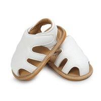 yürümeye başlayan çocuk ayakkabıları lastik tabanlar toptan satış-Bebek Toka Sandalet Kauçuk Taban Bebek giymek kolay yaz ayakkabı Toddler Toddler yumuşak taban Iyi designbaby yaz ayakkabı