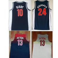 jersey de iguodala al por mayor-2019 Ncaa Arizona Wildcats 13 DeAndre Ayton College Camisetas de baloncesto Hombres 24 Andre Iguodala Camisetas 10 Mike Bibby Blue University Camisetas